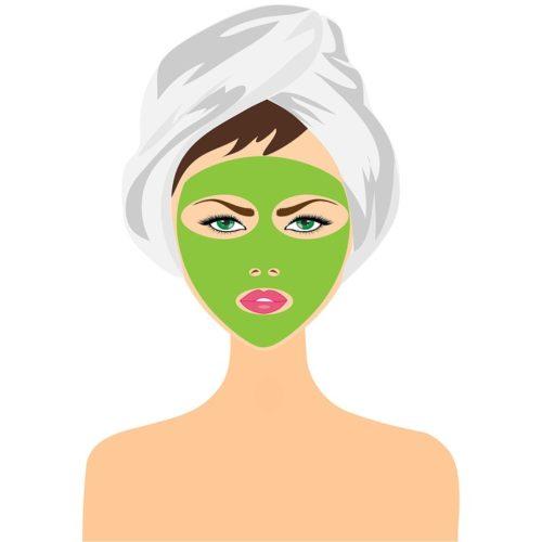 Soin De Beauté, Masque Facial, Jeune Fille, Femme